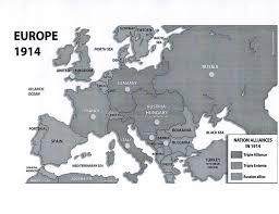 Blank Map Of Europe 1914 by Europe In 1914 Blank Map Quiz Images
