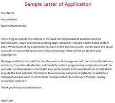 making application letter application letter pinterest