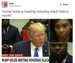 Black History Meme - sunkist stalin s black history month meeting was a cheeto dusty