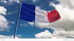 france flag hq animated on an epic background stock animation