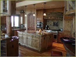 dark knotty alder kitchen cabinets home design ideas