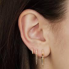 invisible earrings for school 1 4 diamond eternity ring earlobe earrings