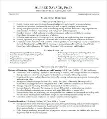 sample marketing director resume sales manager resume sample