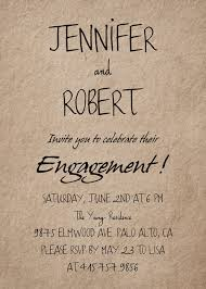 engagement party invites simple rustic personalized engagement party invitation cards