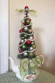 shabby chic cottage christmas tree holiday centerpiece decoration