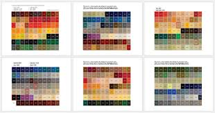 general color chart 5 plus printable charts for word and pdf