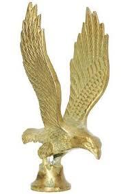 antique brass eagle mascot ornament finial lantern clock