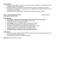 quantitative analyst resume splendid ideas writing a great resume