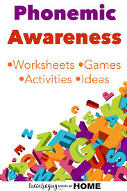 phonemic awareness free worksheets for kids