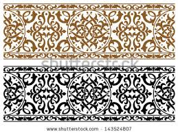 abstract arabic ornament in two colors for design and ornate jpeg