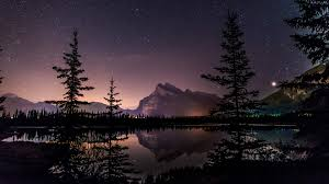 sky lake starry night 4k ultra hd wallpaper high quality walls