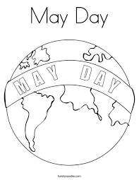 may day coloring page twisty noodle
