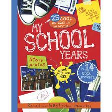 school memories album my school years journal keepsake preschool to 12th grade