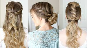 show pix of braid 3 easy rope braid hairstyles missy sue youtube