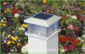 lighting solar fence post lights 5x5 solar deck post lights 5x5