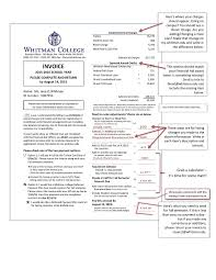 student accounts annual invoice example whitman college