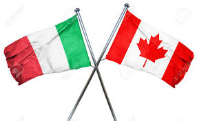 Itlaly Flag Italy Flag Combined With Canada Flag Stock Photo Picture And