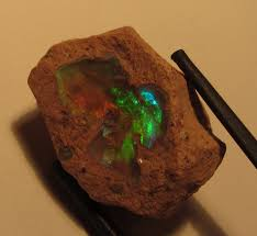 mexican fire opal fire opal on matrix