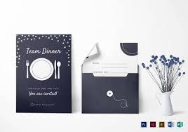 11 team dinner invitations jpg vector eps ai illustrator