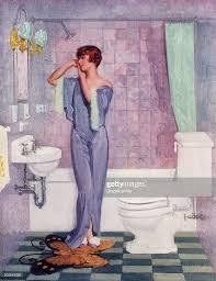 Art Deco Bathroom Woman In Art Deco Bathroom Pictures Getty Images