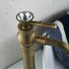 Tall Single Handle Bathroom Faucet Antique Bronze Brass And Cold Single Handle Tall Bathroom Sink