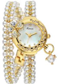 pearl bracelet watches images Kimio girls white dial pearl bracelet watch kw505s sy01 ksa souq jpg