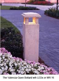 concrete bollard lighting fixtures stonelight concrete landscape bollard lights and matching security