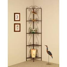 Corner Bookcase Designs Copper Metal Corner Bookcase Design Feature Contemporary Style And