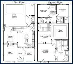 Home Floor Plans With Basement Two Story House Plans With Finished Basement Double Bedroom Storey