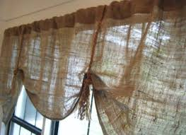 burlap kitchen curtains making curtains out of burlap no sew