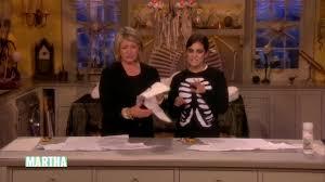 Martha Stewart Halloween Craft by Video Skeleton T Shirt Costume Martha Stewart