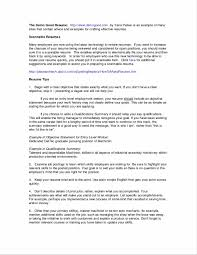 example of resume summary statements resume with a summary