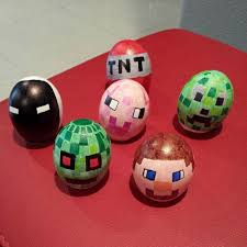 Hard Boiled Eggs For Easter Decorating Minecraft Chocolate Easter Eggs U2013 Happy Easter 2017