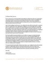 sample recommendation letter for a student teacher