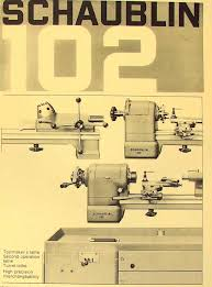 schaublin no 102 series precision metal lathe catalog manual