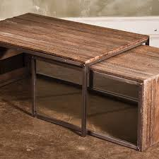 wood nesting coffee table reclaimed wood accent tables