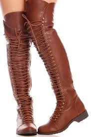 s boots knee high brown brown faux leather side zipper the knee high boots s