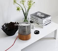 eclairage de bureau made in china base en bois lampe de bureau effacer ambre