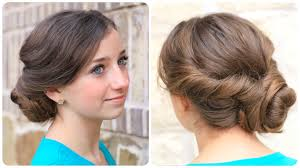 how to create an easy twisted updo cute girls hairstyles cute