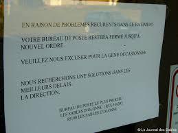 fermeture des bureaux de poste le bureau de poste d olonne fermé pour raisons sanitaires actu fr