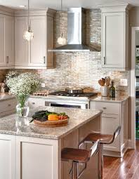 islands in the kitchen materials glass tile