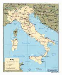 Italy Map With Cities by Large Scale Political Map Of Italy With Roads Railroads And Major