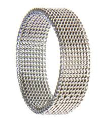 just men rings stylish wedding bands tasty stainless steel mesh ring