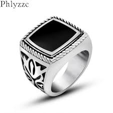 cool men rings images New fashion square signet rings fashion male finger anel silver jpg