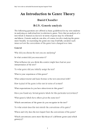What Is A Traditional Resume Daniel Chandler An Introduction To Genre Theory