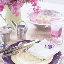 Easter Decorations For Tables by Purple Pink And Green Color Combinations For Easter Table Decoration
