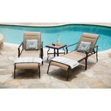 Hampton Bay Belleville 7 Piece Patio Dining Set - amazon com hampton bay belleville padded sling outdoor chaise