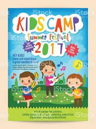 kids summer camp education poster flyer stock vector art 637016044