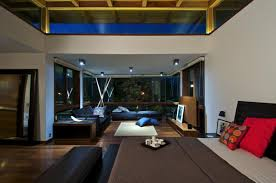bedroom living space courtyard house by hiren patel architects
