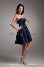 allens bridal taffeta strapless short a line cocktail dress